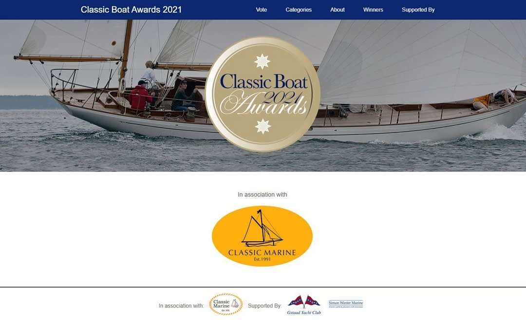 "News — Cynara nominated for ""Classic Boat Awards 2021"""